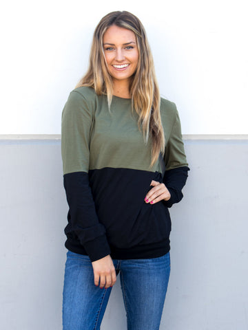 Colorblock Pullover - Tickled Teal LLC