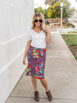Jordan Floral Weekend Skirt | S-3X - Burgundy