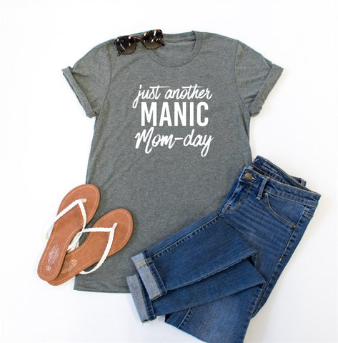 Just Another Manic Mom-Day Crew Neck Tee
