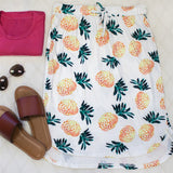 Pattern Weekend Skirt - Pineapple - Tickled Teal LLC