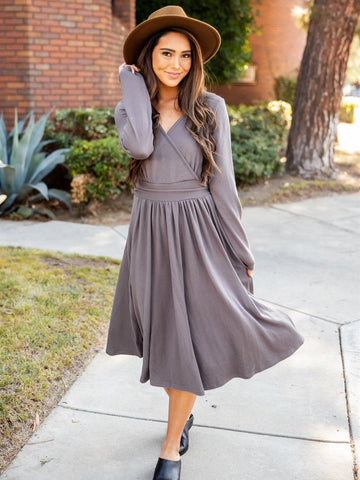 The Isla Dress - Grey