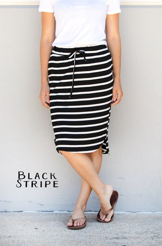 Stripe Weekend Skirt - Tickled Teal LLC