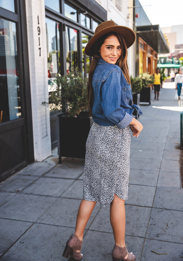 Evie Weekend Skirt - Blue
