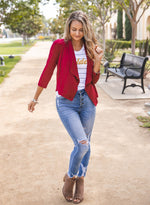 The Rae Blazer - Red