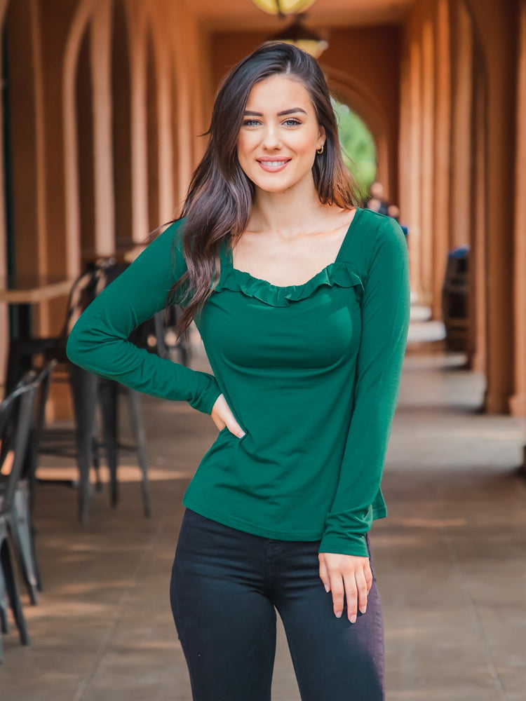 The Paisley Top - Forest Green