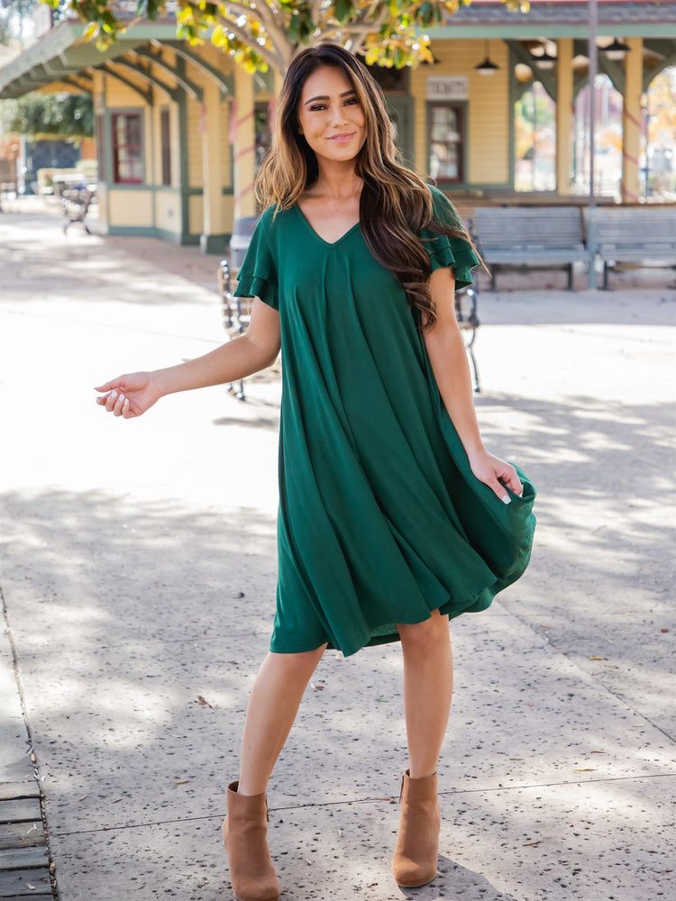 The Gabriella Dress - Jade Green