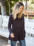 The Ember Top - Navy/Brown