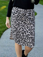 Leopard Weekend Skirt - Gray - S-3X