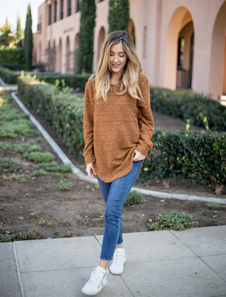 The Callie Sweater - Brown