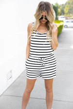 The Daphne Romper - White