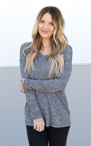 Lightweight Summer Sweater - Charcoal - Tickled Teal LLC