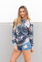 Floral Light Weight Hoodie - Tickled Teal LLC
