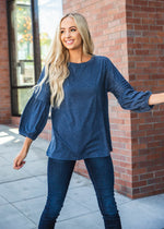 The Casey Top - Navy
