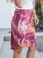 Tie Dye Weekend Skirt - Maroon/Orange
