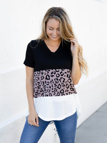 The Amelia Top - White / Gray
