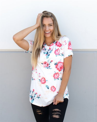 Floral Tunic Tee