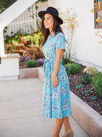 Amani Tie Dress - Blue Floral