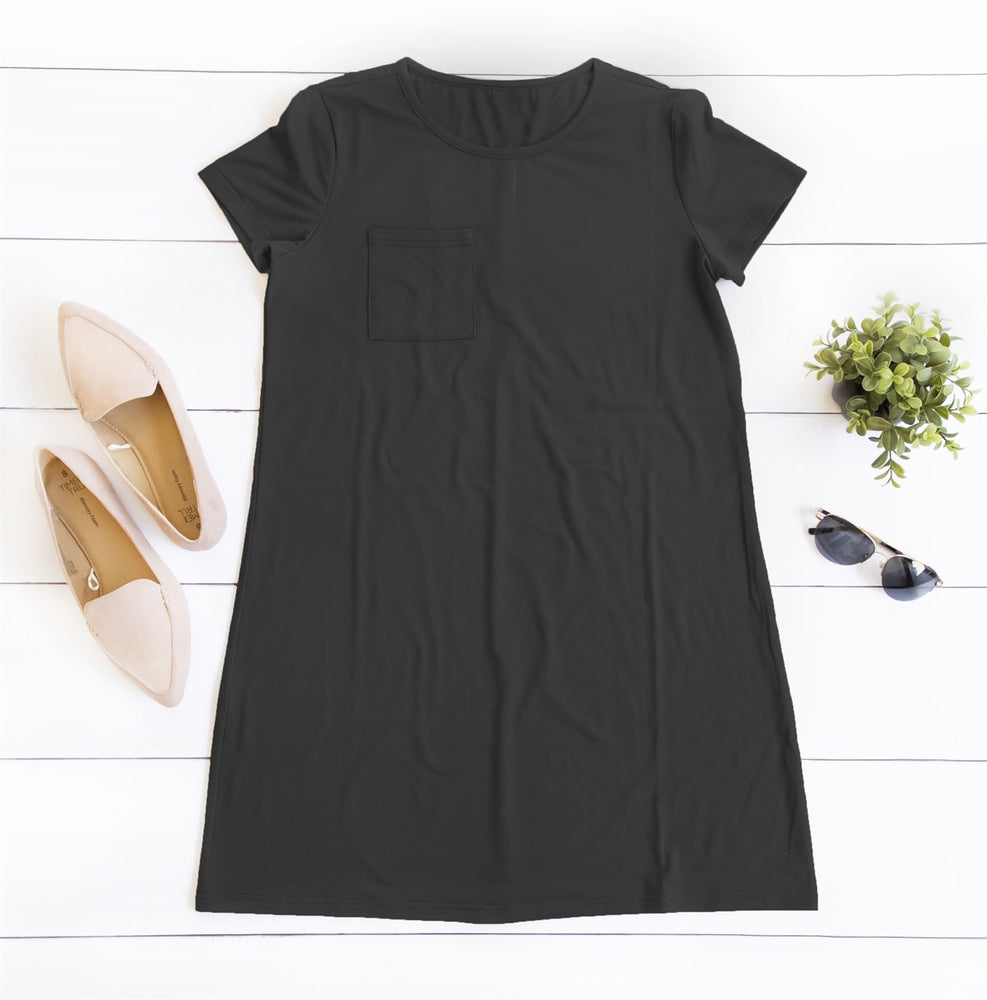 Heather Pocket Dress - Black
