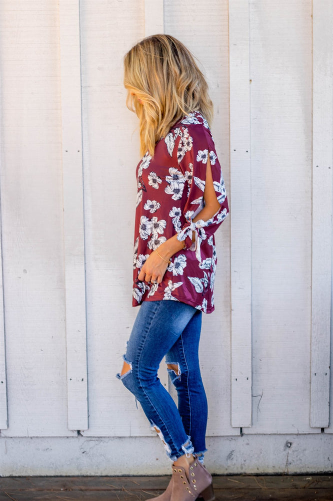 The Masey Top - Burgundy