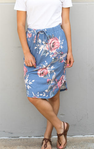 Floral Weekend Skirt - Tickled Teal LLC