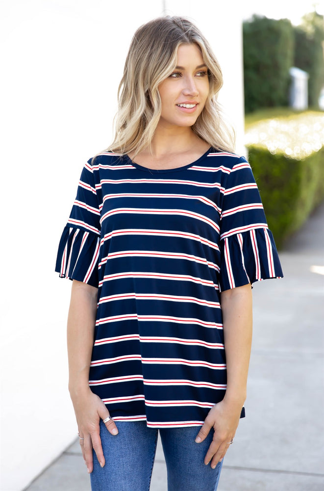 The Aleigha Top - Navy