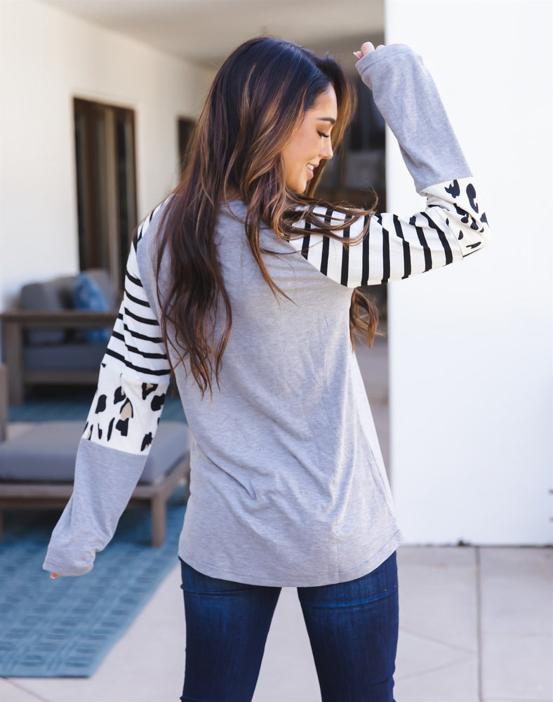 The Nancy Top - Gray