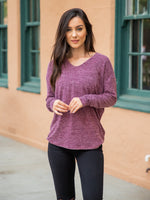 Lightweight Aliah Sweater - Purple