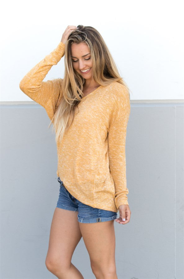 Lightweight Summer Sweater - Yellow - Tickled Teal LLC