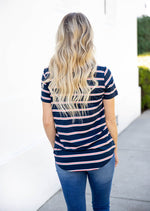 The Ariana Top - Navy