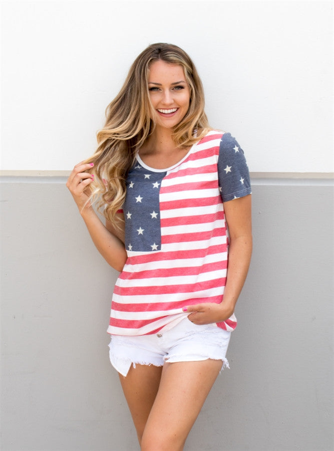 Stars & Stripes Tee - Tickled Teal LLC