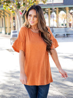 Solid Brooklyn  Top - Clay Orange
