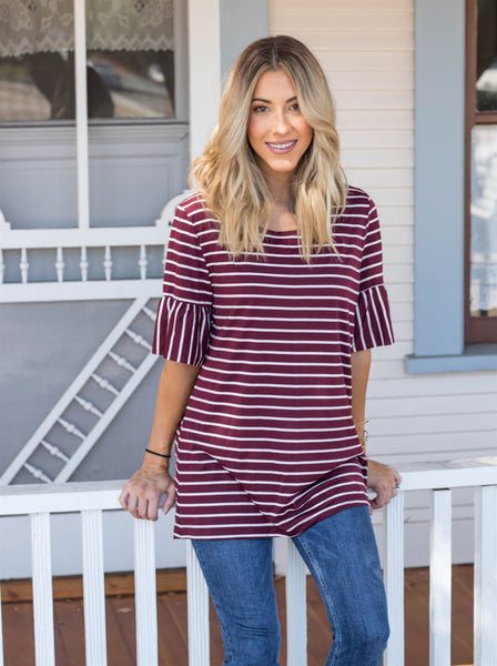The Payton Top - Burgundy