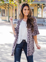 Moxie Cardigan - Taupe Leopard