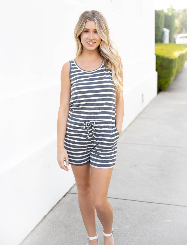 The Daphne Romper - Charcoal