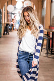 The Layla Sweater - Tan & Navy - Tickled Teal LLC
