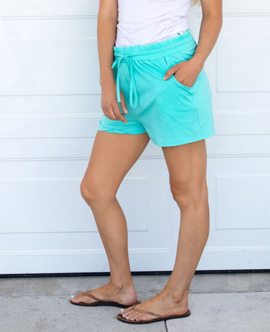 Solid Lounge Shorts - Teal