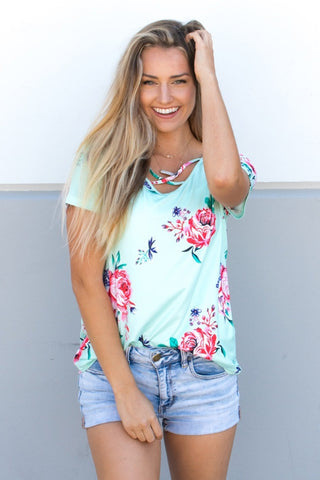 Criss Cross Tunic - Mint