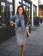 Cheetah Weekend Skirt - Black/White