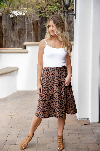 Animal Print Laura Skirt - Brown Cheetah