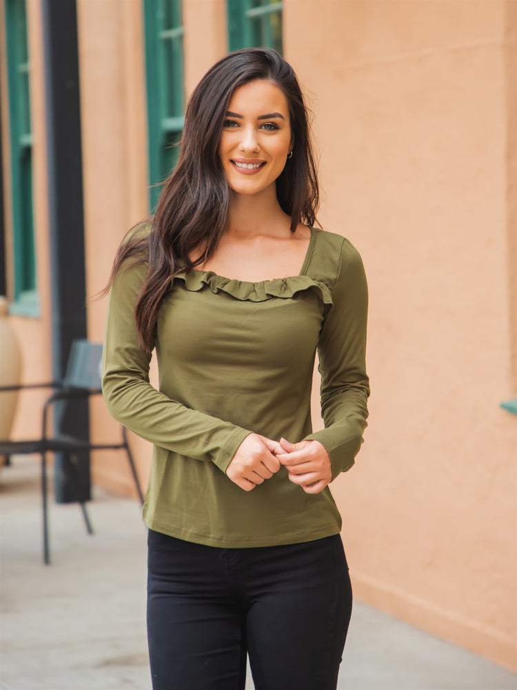 The Paisley Top - Olive