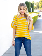 The Aleigha Top - Mustard