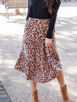 Amara Skirt - Brown Leopard