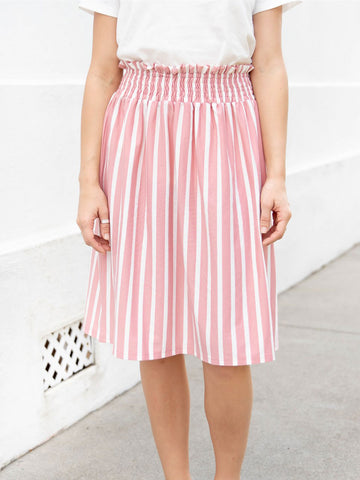 Striped Tracie Skirt - Pink