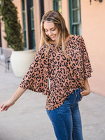 Leopard Austin Top - Brown