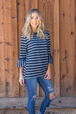 The Gracie Top - Navy - Tickled Teal LLC