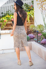 The Alexis Skirt - Small Brown Cheetah