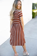 The Eliana Dress - Brown