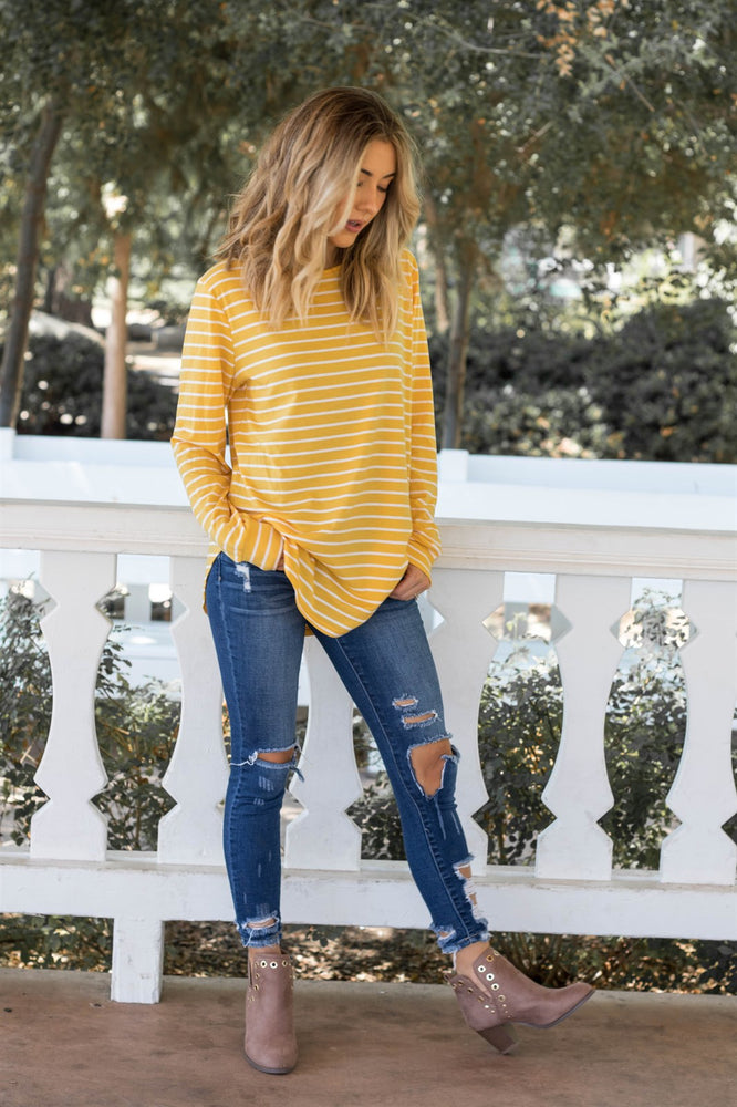 The Mia Top - Yellow - Tickled Teal LLC