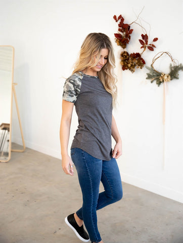 The Kaia Top  - Gray