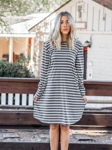 The Jamey Dress - Charcoal